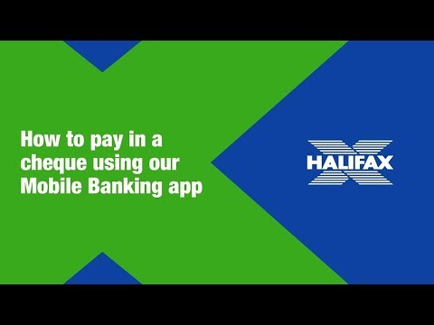 Halifax | How To Pay In A Cheque With The Halifax Mobile Banking App