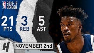 Jimmy Butler Full Highlights Timberwolves vs Warriors 2018.11.02 - 21 Pts, 5 Ast, 3 Rebounds!