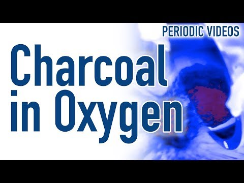 Hot Charcoal in Liquid Oxygen (THERMAL IMAGING) - Periodic Table of Videos