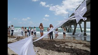 Alyssa Alhadeff remembered at beach party, headstone unveiling