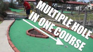 Mini Golf at 100 Degrees - Adventureland Theme Park in Dothan AL (Course 1)