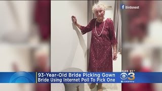 93-Year-Old Bride Using Internet Poll To Pick Wedding Dress