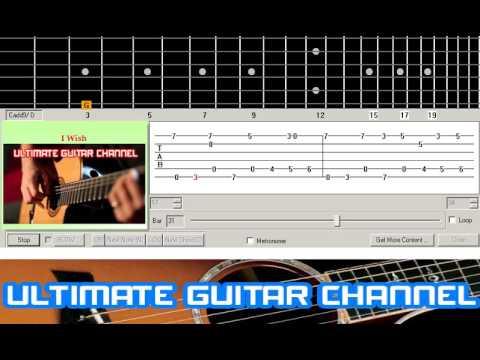 Guitar Solo Tab I Wish Stevie Wonder
