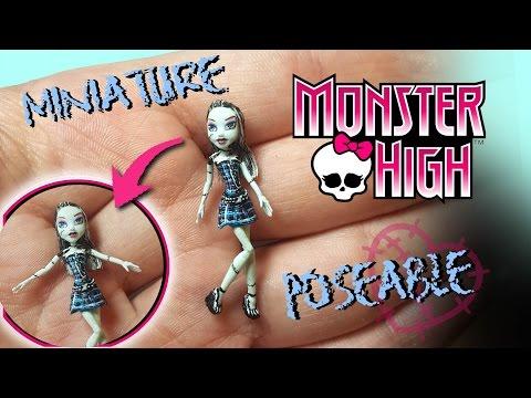 Miniature Monster High Frankie Stein Tutorial // Dolls/Dollhouse DIY