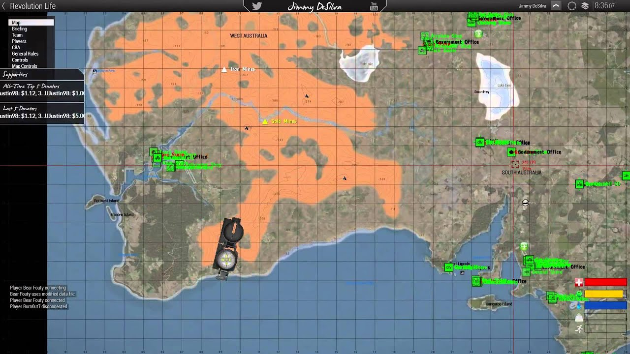 Jimmy DeSilva On Revolution Life Australia Map Arma YouTube - Arma 3 us maps