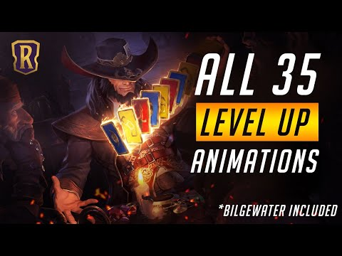ALL 35 Champion Level Up Animations (including Bilgewater) | Legends of Runeterra