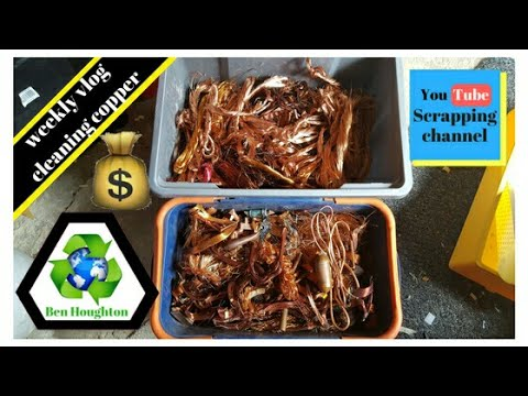 Weekly scrapping vlog extracting copper from transformers, motors, gauze cables and yokes
