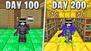 I Survived 200 Days in HARDCORE Minecraft...
