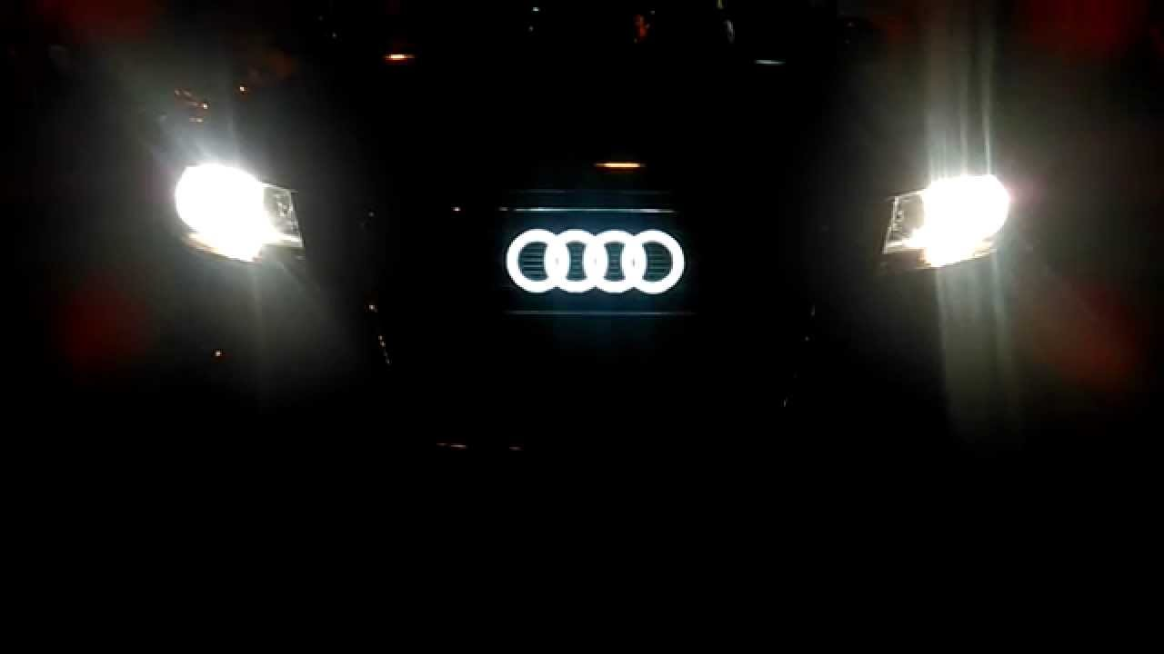 audi led logo youtube. Black Bedroom Furniture Sets. Home Design Ideas