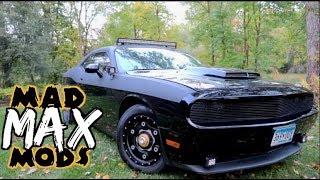 Dodge Challenger Mods- 3 Inch lift, truck tires, Offroad & Underbody lights, rhinoliner Mad max pt1