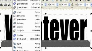 Designing A Name Plate With Inkscape