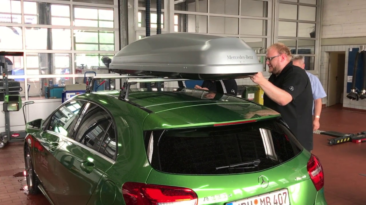 mercedes-benz dachbox 330 - info-video zur montage - youtube