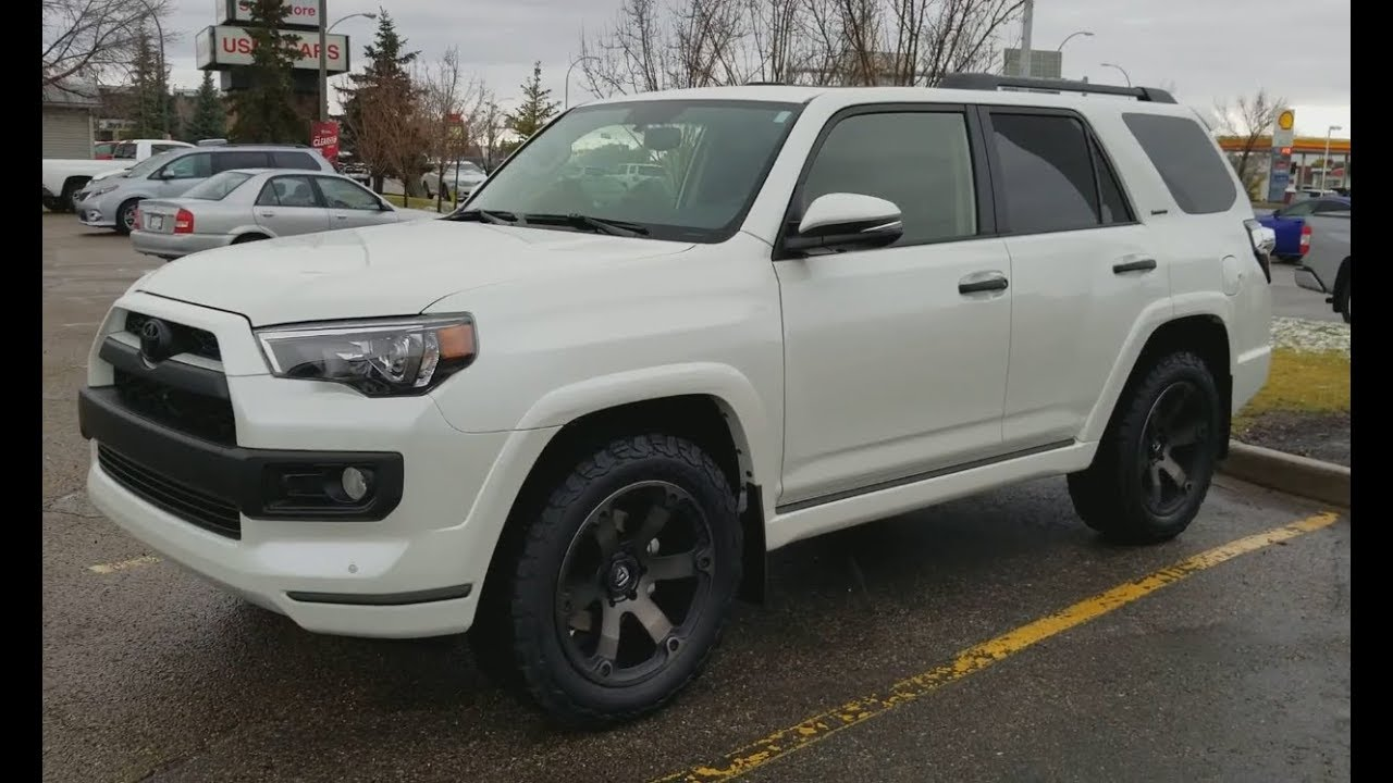 Toyota Blizzard Pearl >> 2018 Toyota 4Runner Limited Blizzard pearl without Chrome, add Fuel Beast Rims - YouTube
