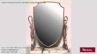 French Antique Dressing Table Mirror Empire Mirrors For
