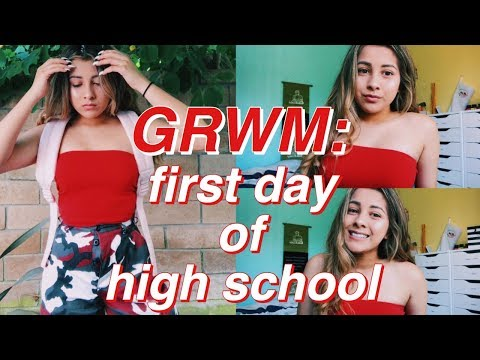GET READY WITH ME: FIRST DAY OF HIGHSCHOOL!! | SOPHOMORE YEAR