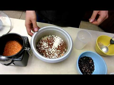 How to cook and prepare Multigrain Rice - Glutinous Red Black Brown grain with quinoa lentil recipe