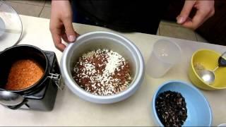 How To Cook And Prepare Multigrain Rice - Glutinous Red Black Brown Grain With Quinoa Lentil Recipe