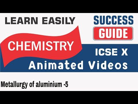 ICSE  CLASS X CHEMISTRY -Metallurgy of aluminium -5-BY SUCCESS GUIDE