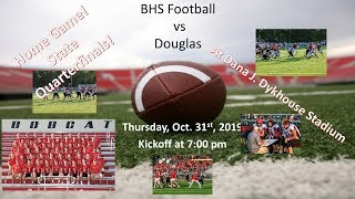 Brookings Bobcats Football vs Douglas Patriots (FB) Quarterfinals 10.31.19