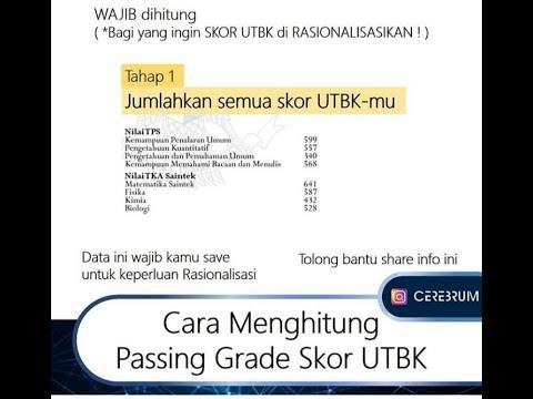 CARA MENGHITUNG PASSING GRADE SKOR UTBK - YouTube