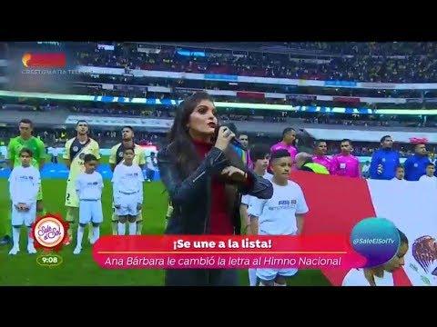 ¡Ana Bárabara olvidó el Himno Nacional!   Sale el Sol