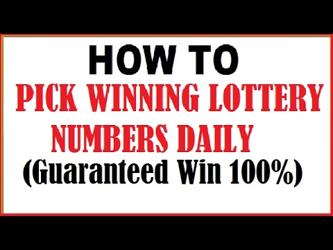 How to Pick Your Daily Lottery Winning Numbers 2017