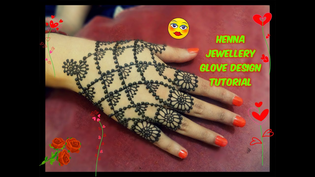 Easy Mehndi Ideas : Easy diy best and beautiful henna mehndi jewellery glove design