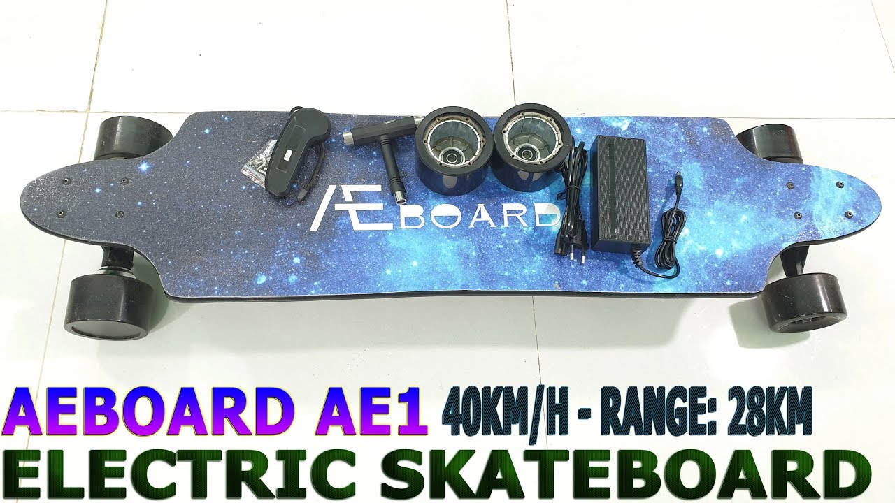 40Kmh AEBOARD AE1 Unboxing Review  Best Electric Skateboard With 10S 3P Battery  YouTube
