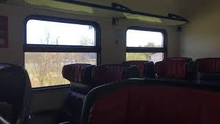 Смотреть видео Бизнес-класс в электричке Павловск-Санкт-Петербург (Train Pavlovsk-Saint-Petersburg) онлайн