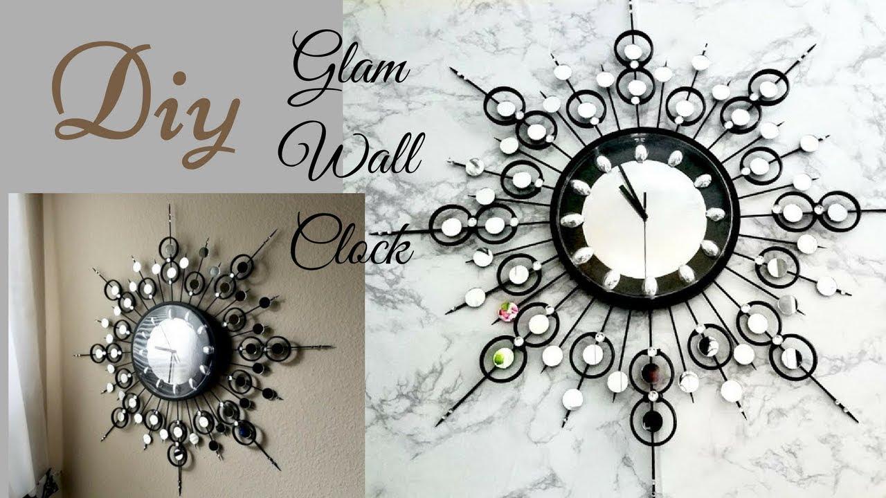 Diy Decorative Wall Clock Wall Decorating Idea Youtube