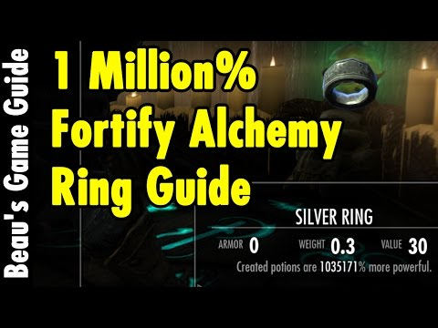 1 MILLION% Fortify Alchemy Ring - Skyrim Special Edition - xBeau Gaming