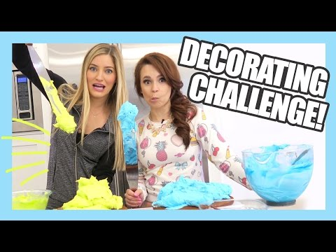 Thumbnail: Cake Decorating Challenge with Ro | Nerdy Nummies | iJustine