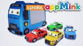 Español animación Camión de Basura salva a la Ciudad de AppMink | Persecución del Equipo de Policía