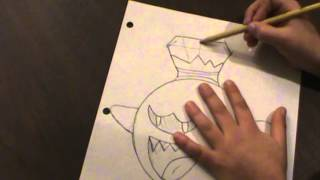 How to draw King Boo from Luigi