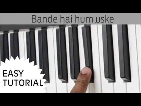 Bande Hain Hum Uske Piano, Slow simple 'n' easy Casio Keyboard Tutorial - dhoom3