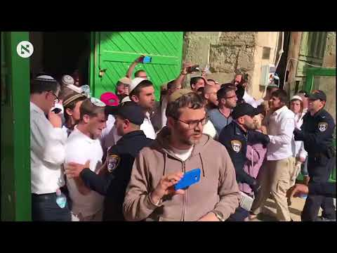 Jews and Palestinians clash near Temple Mount
