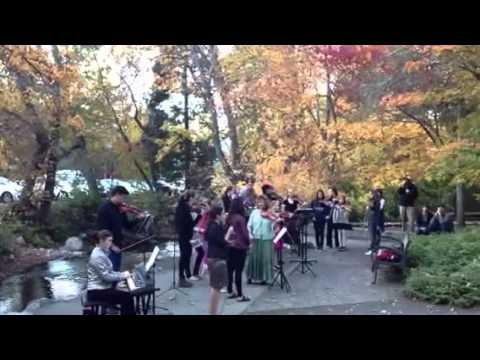 Siskiyou Violins Perform at the Lithia Park Dedication  October 2013
