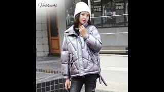 Женская парка из хлопка vielleicht зимняя плотная куртка в корейском стиле 2021 с Aliexpress