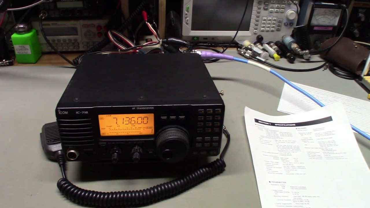 Icom IC-718 No audio and no TX power repair (or maybe not)  Read the owners  manual
