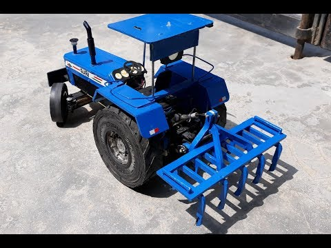 How to make plastic Cultivator with tractor toys