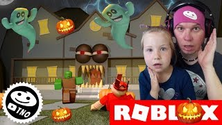 ESCAPE FROM the HAUNTED HOUSE-Trick r Treat Obby (fr) Roblox - France Papa et Barunka CZ/SK