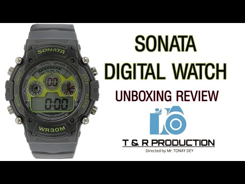 SONATA DIGITAL WATCH 🔥 UNBOXING REVIEW 2019