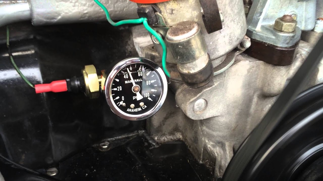 vw type 1 oil pressure gauge kit by esd youtube. Black Bedroom Furniture Sets. Home Design Ideas