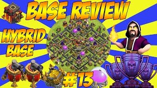 TH10 HYBRID BASE | 2 AIR SWEEPER - Base Review - Clash Of Clans