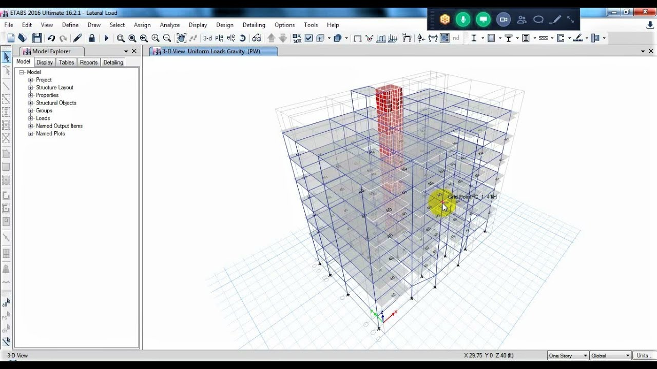 Structural Analysis And Design Using Etabs Safe Project Part 03 End Bangla Tutorial Youtube