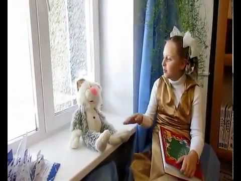 Изображение предпросмотра прочтения – ПолинаДзисюк читает произведение «Мама, глянь-ка из окошка» А.А.Фета