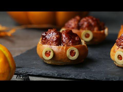 Brain Sliders For A Savory Halloween Treat • Tasty