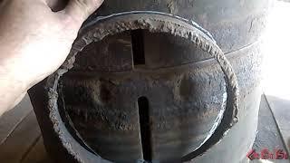 печь в баню из мазовских дисков