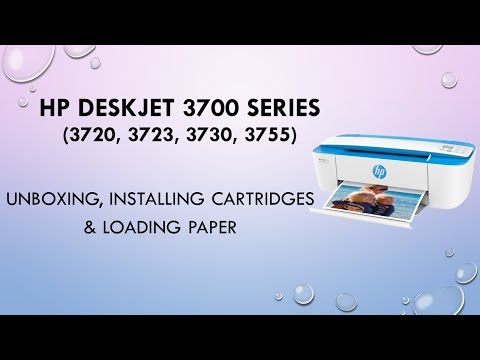 HP Deskjet 3720 3723 3730 3755 : Unboxing, Installing cartridges & loading paper