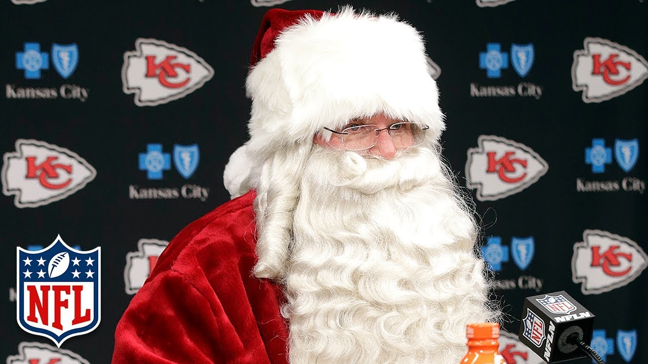 andy reid as santa claus talks about his team after the game dolphins vs chiefs nfl wk 16 - Nfl Schedule Christmas Day